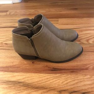 Shoes - JBU booties size 8 - taupe color